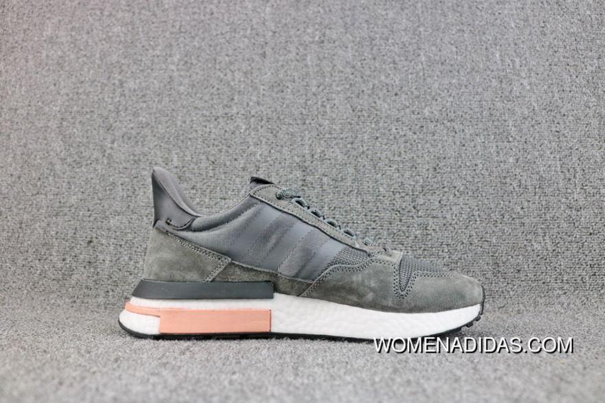 7dbf4aeada759 Adidas Flacon ZX500 RM B42217 Originals Running Shoes GREY FIVE   FTWR  WHITE   CLEAR ORANGE