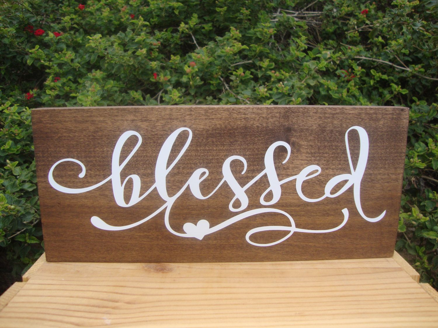 wooden signs for kitchen granite set blessed sign wood wall collage rustic