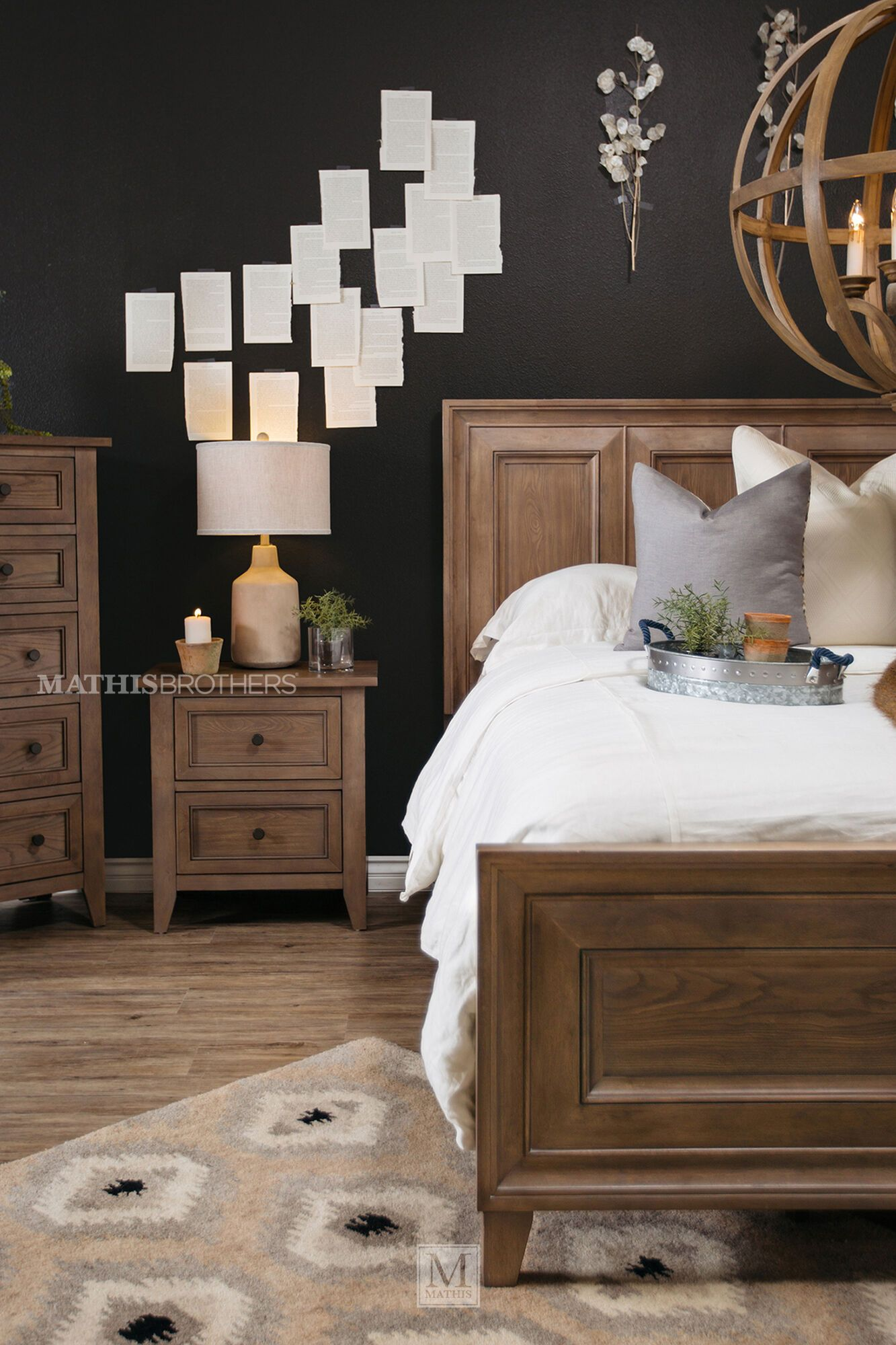 59 Quot Traditional Framed Panel Bed In Driftwood Mathis