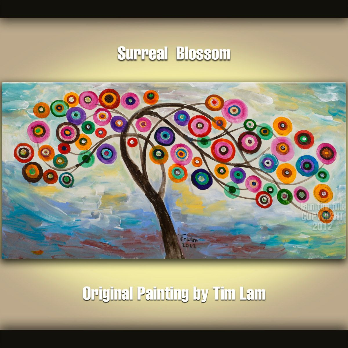 Abstract+Painting+Fancy+Blossom+Tree+Art+Huge+by+elsestudio,+$318.00