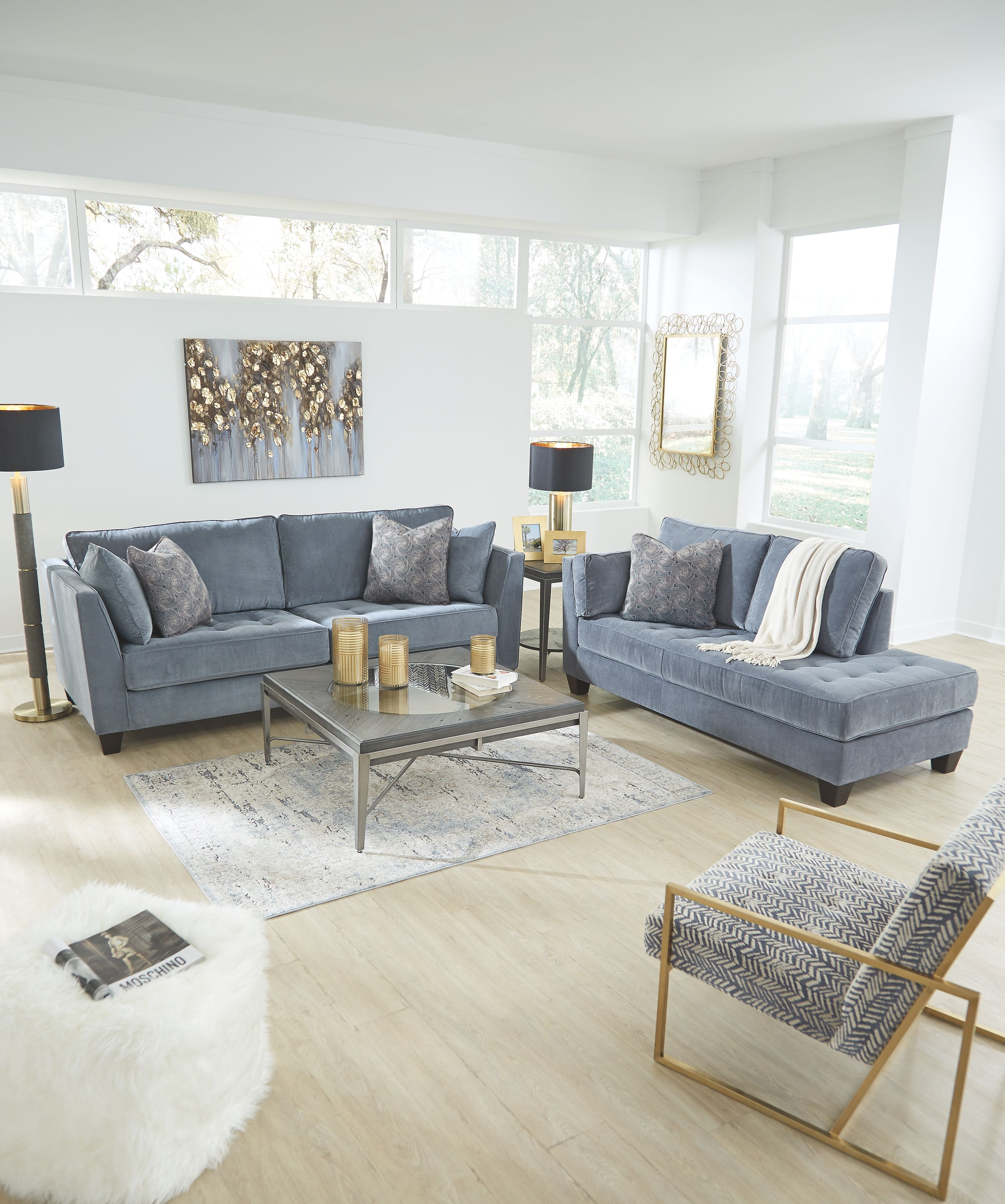 Sciolo Sofa, Cobalt | Products in 2019 | Living room decor ...