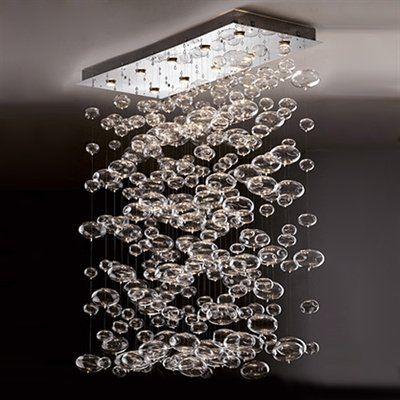 Prospetto 7822 10 Light Bubbles Rectangular Large Pendant