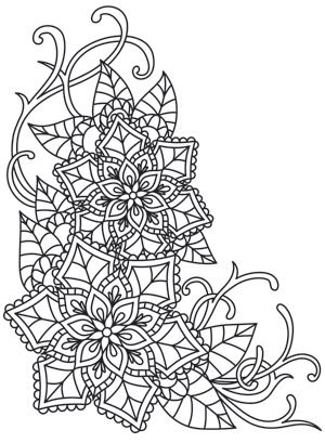 Delicate December - Poinsettias Urban Threads Unique and Awesome - fresh mandala coloring pages on pinterest
