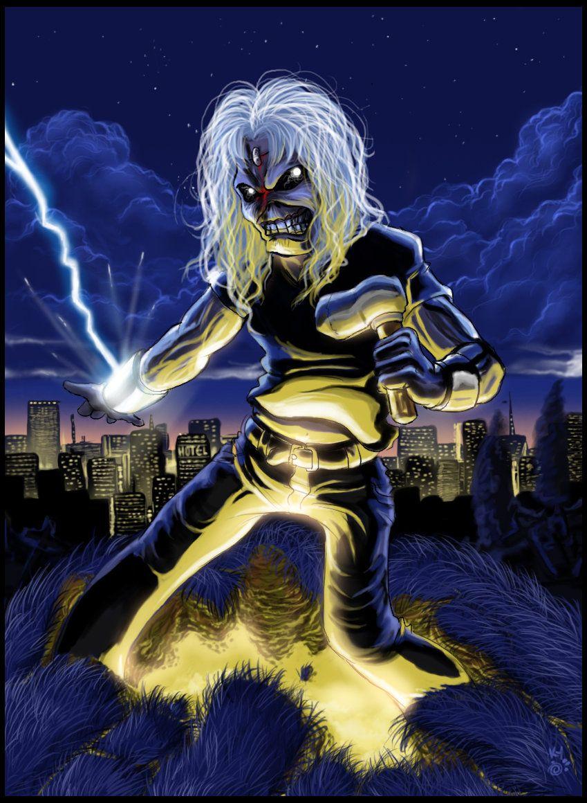 Eddie Copyright © Iron maiden/Derek Riggs Live After Death by Iron Maiden fans