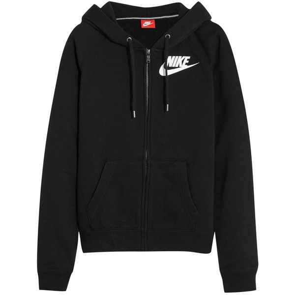 5fb1f2ae26d Nike Rally FZ cotton-blend jersey hooded sweatshirt ( 72) ❤ liked on  Polyvore featuring tops