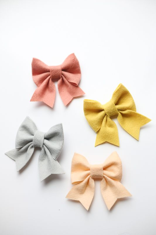felt bow free pattern and tutorial Bows Pinterest Felt bows - bow template