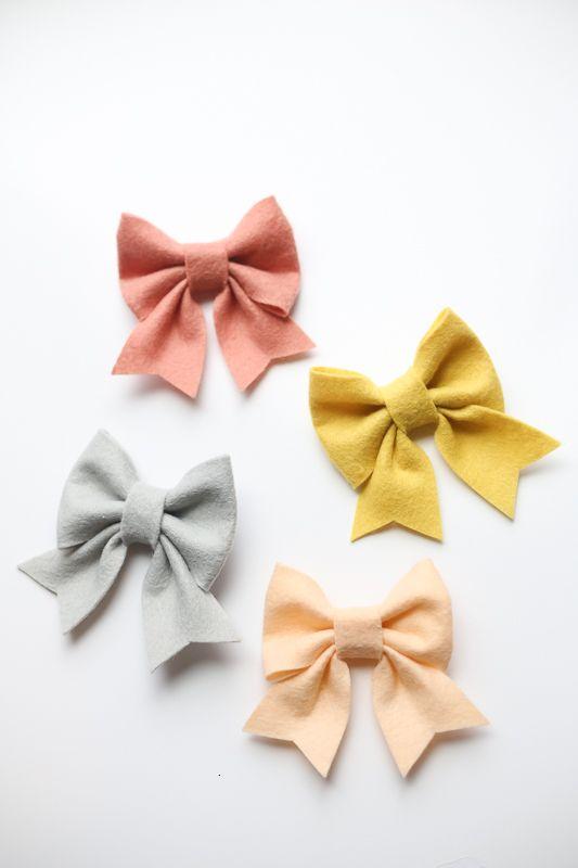 felt bow free pattern and tutorial Bows Pinterest Felt bows - bow template