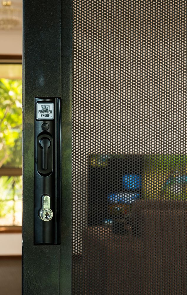 Prowler Proof S Protec Sliding Door Security Screen Is Smart Security The Mesh Is A Single Aluminium S Security Screen Door Metal Screen Doors Security Screen