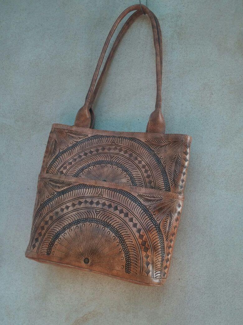 Wunderschöne braune Handtasche Monique aus Leder ❤️