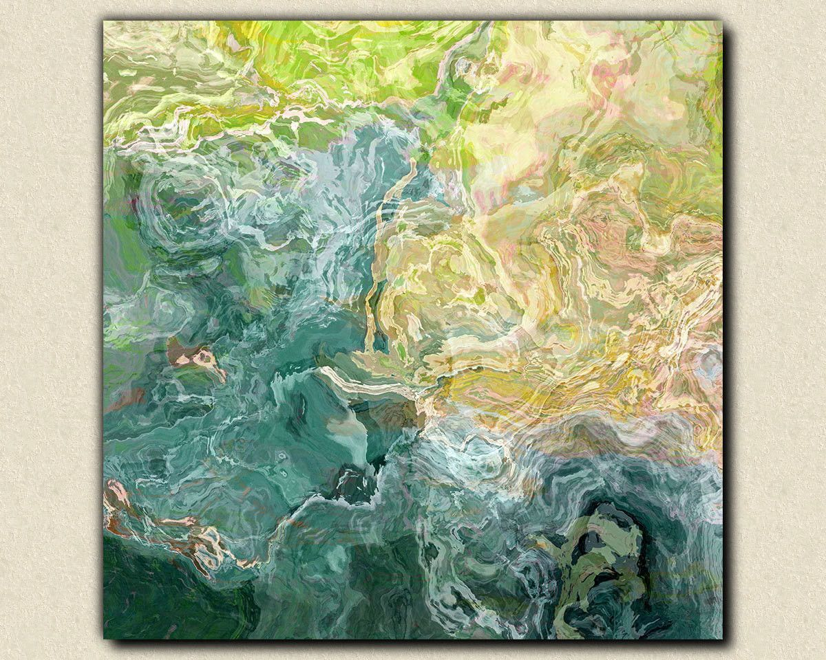 Contemporary abstract art, 24x24 to 36x36 canvas print with gallery ...