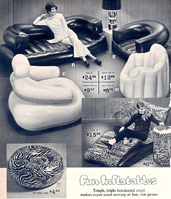 Vintage Ad U2014 Before We Had Ikea, We Had Inflatable Furniture