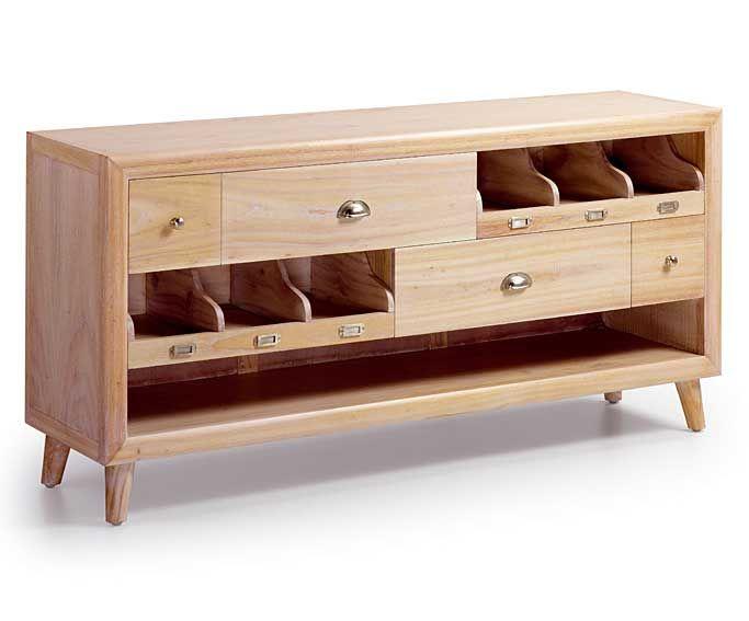 mueble tv 4 cajones vintage bromo material madera de