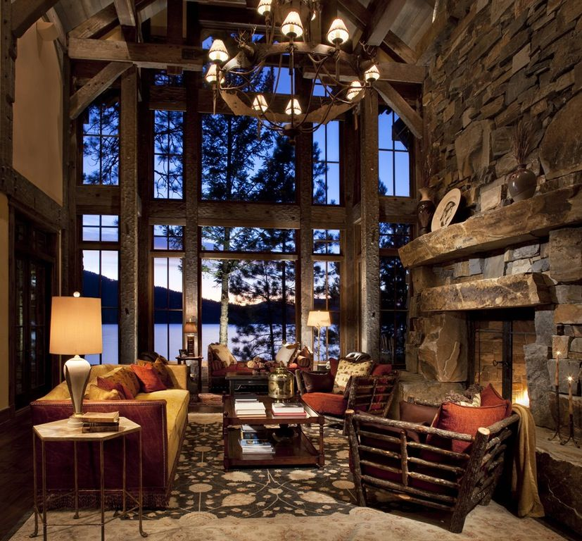Amazing Cabin In Whitefish, Montana, Made By Rocky Mountain Builders