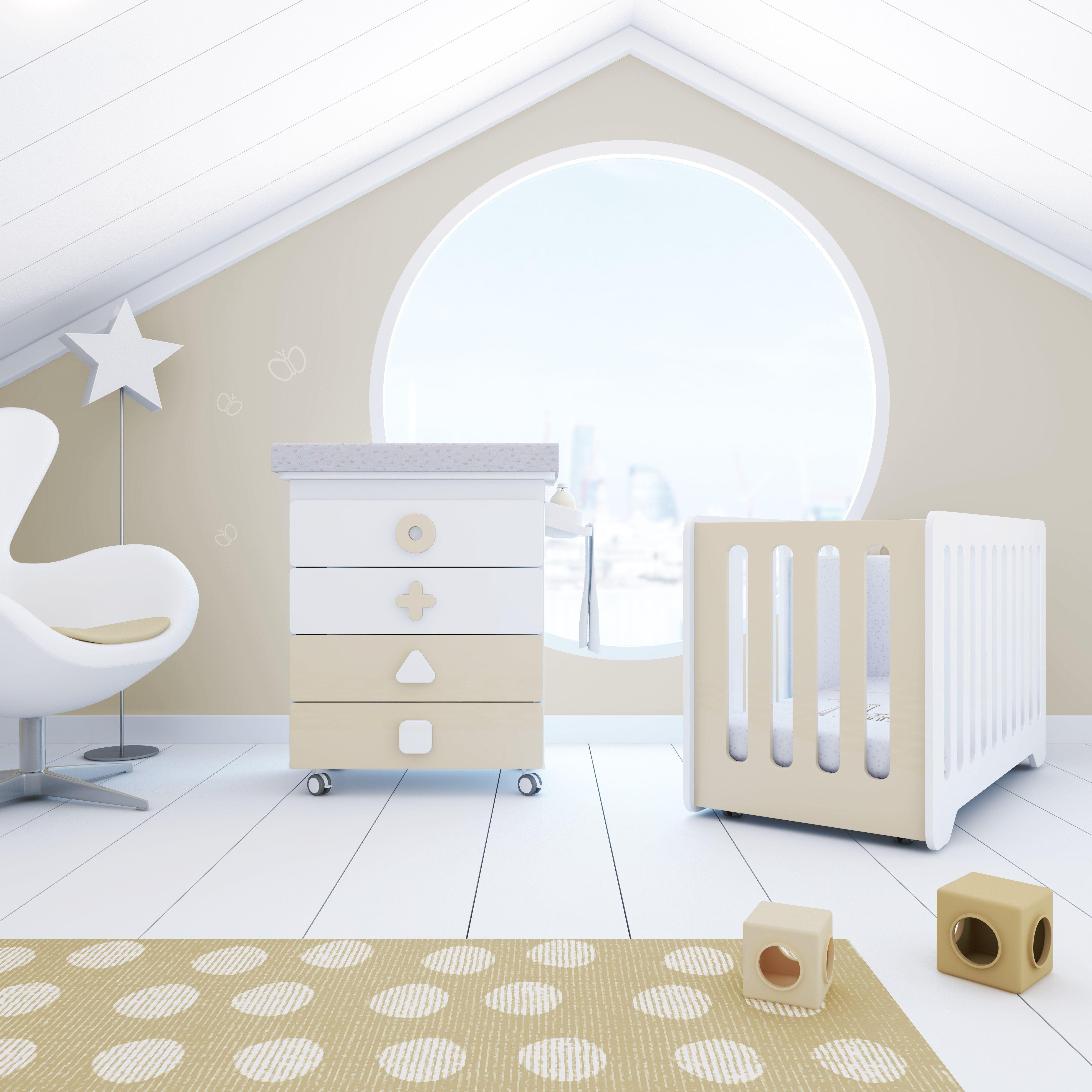 Cuna y mueble cambiador infantil de dise o para beb s - Cuna de diseno ...
