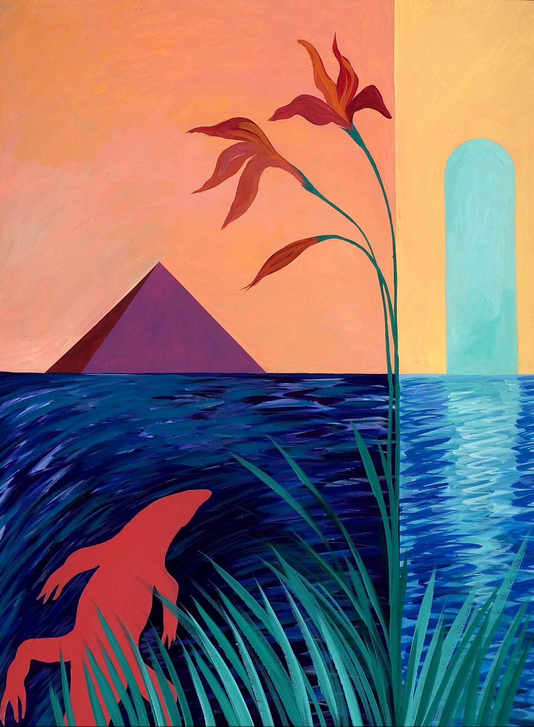 """The work is part of a series of fifteen pieces of the same size. It is specifically the third piece in a triptych numbered IV."" [Paradise mystery IVc], Selections from Georgia's State Art Collection, presented in the Digital Library of Georgia. Georgia Council for the Arts"