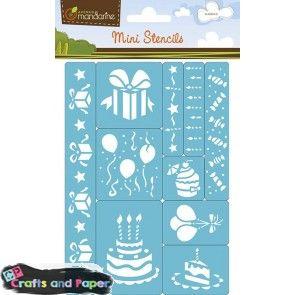 Crafts and paper Στένσιλ μινι 15Χ21 γενεθλια