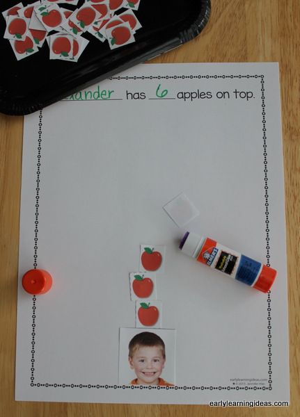 Apples on Top Make a Class Apple Counting Book [Free