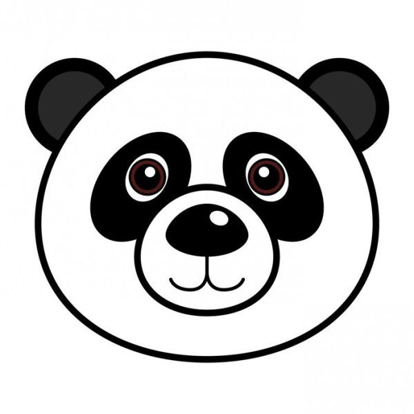 Face Panda Bear Coloring Pages In 2020 Easy Drawings Bear Coloring Pages Polar Bear Coloring Page