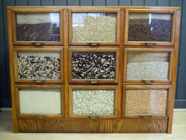 Unique Small Size J.D. Warren Seed Cabinet