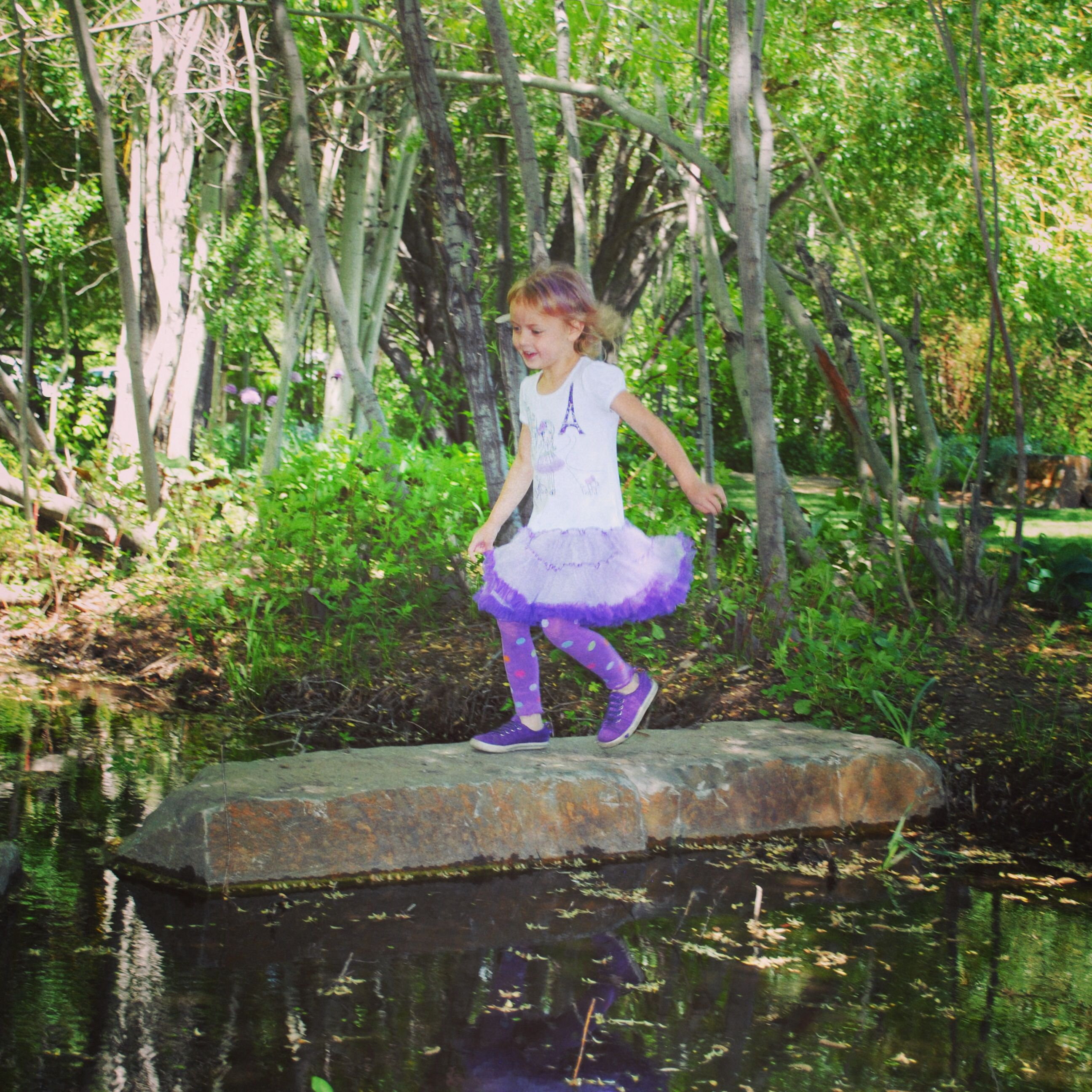 Organic Kid Playing On Rocks At The Sawtooth Botanical Garden, #MiyakoBliss