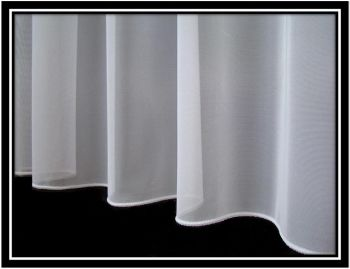 Continuous Chain Weight Hem On A Sheer Curtain