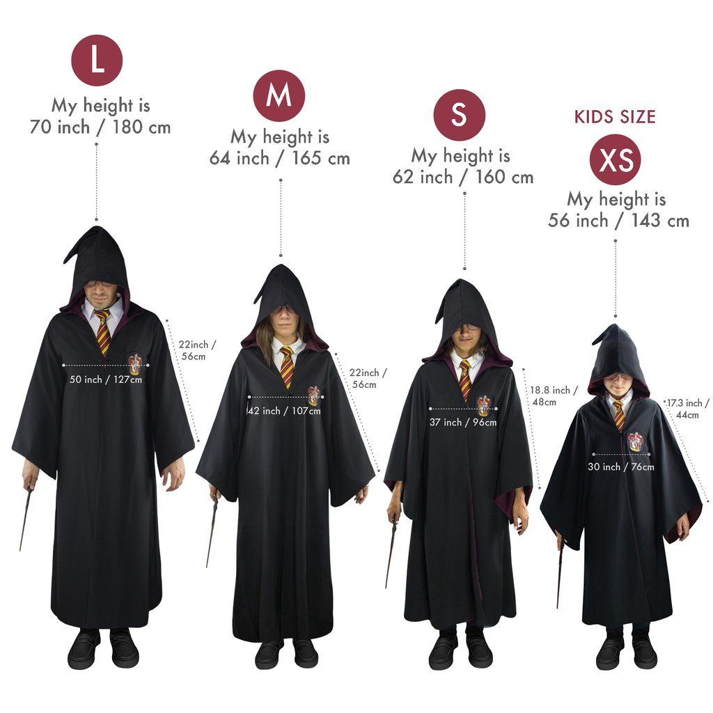 Adults Gryffindor Robe in 2020 Harry potter robes, Harry