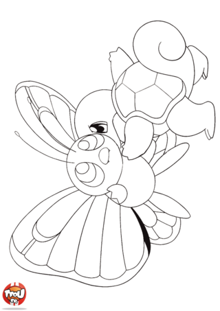 Coloriage Papilusion Et Carapuce Coloriage Pokemon Coloriage