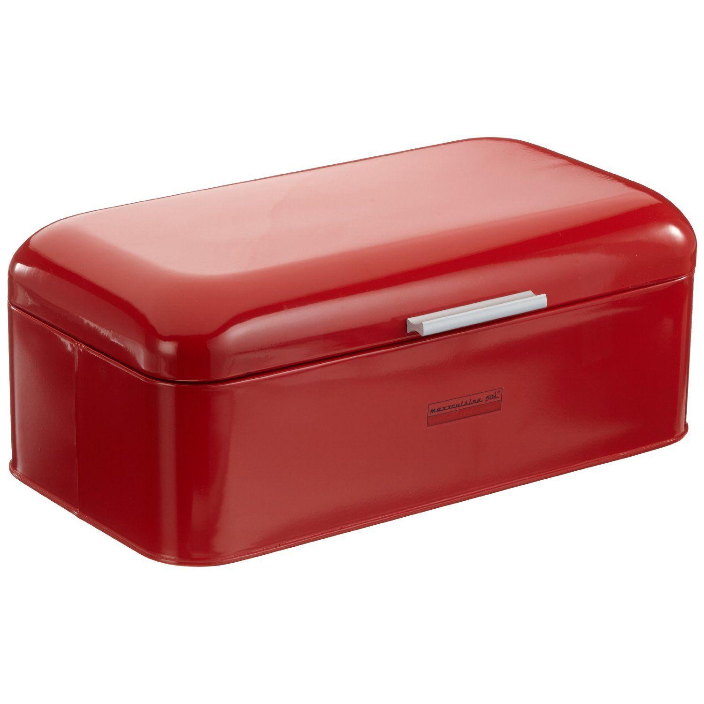 Maxx Cuisine Brotbox Rot Retro Brotkasten Maxxcuisine Amazon De