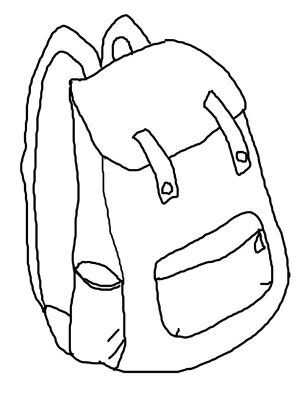 backpack printable coloring page