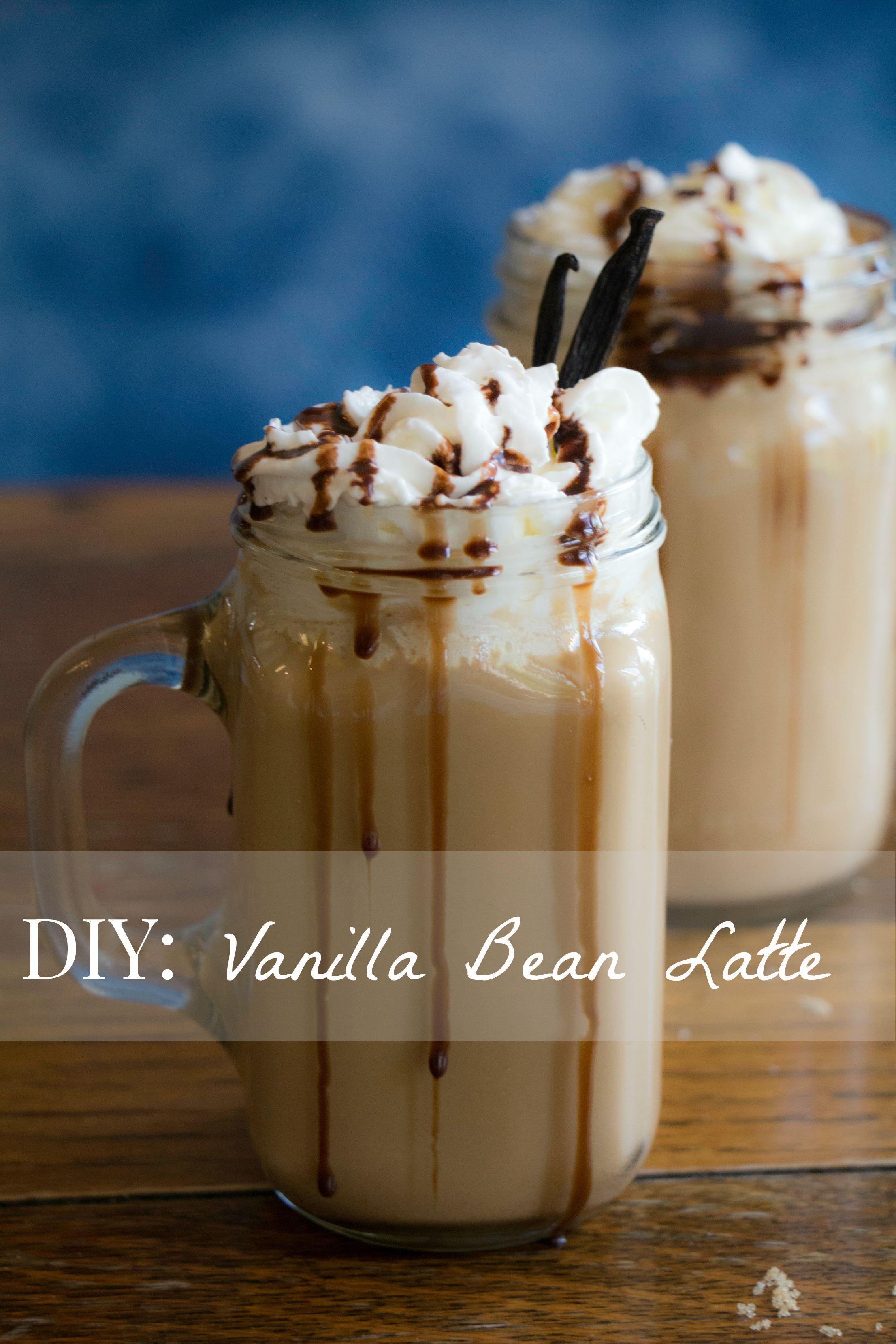 Diy vanilla bean latte latte recipe vanilla bean latte
