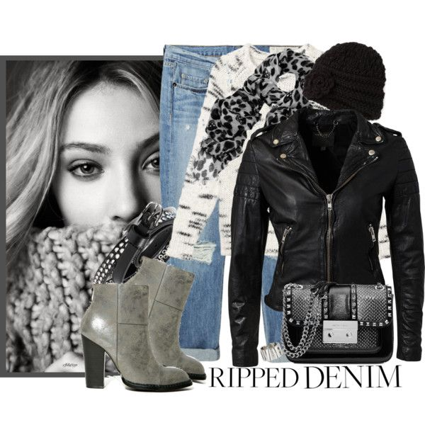 """""""How To Style Ripped Jeans"""" by cjfdesign on Polyvore"""