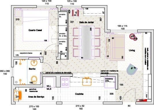 Small Apartment Layout - By Samantha Taylor Arquitetura  Interiores