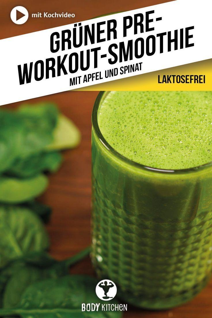 Dank diesem grünen Pre-Workout-Smoothie startest du in deiner nächsten Trainings-Session richtig dur...
