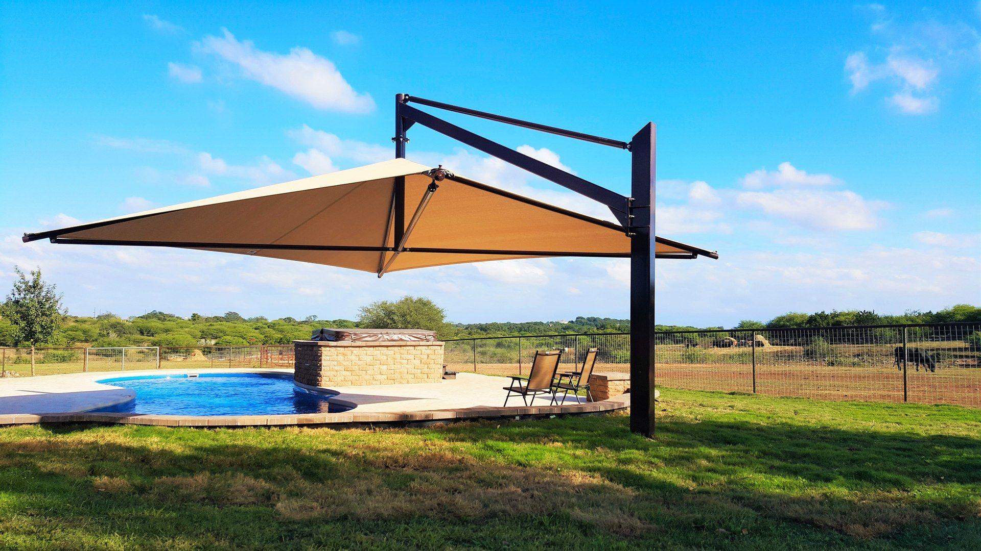 Shade Structure Pool Umbrellas