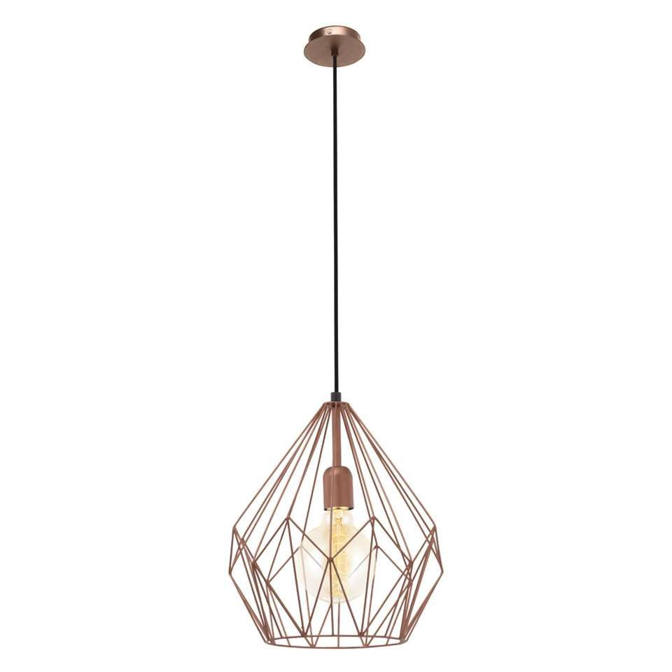 Eglo Hanglamp Carlton Koperkleur Hanglamp Koperen Hanglampen Koperen Verlichting