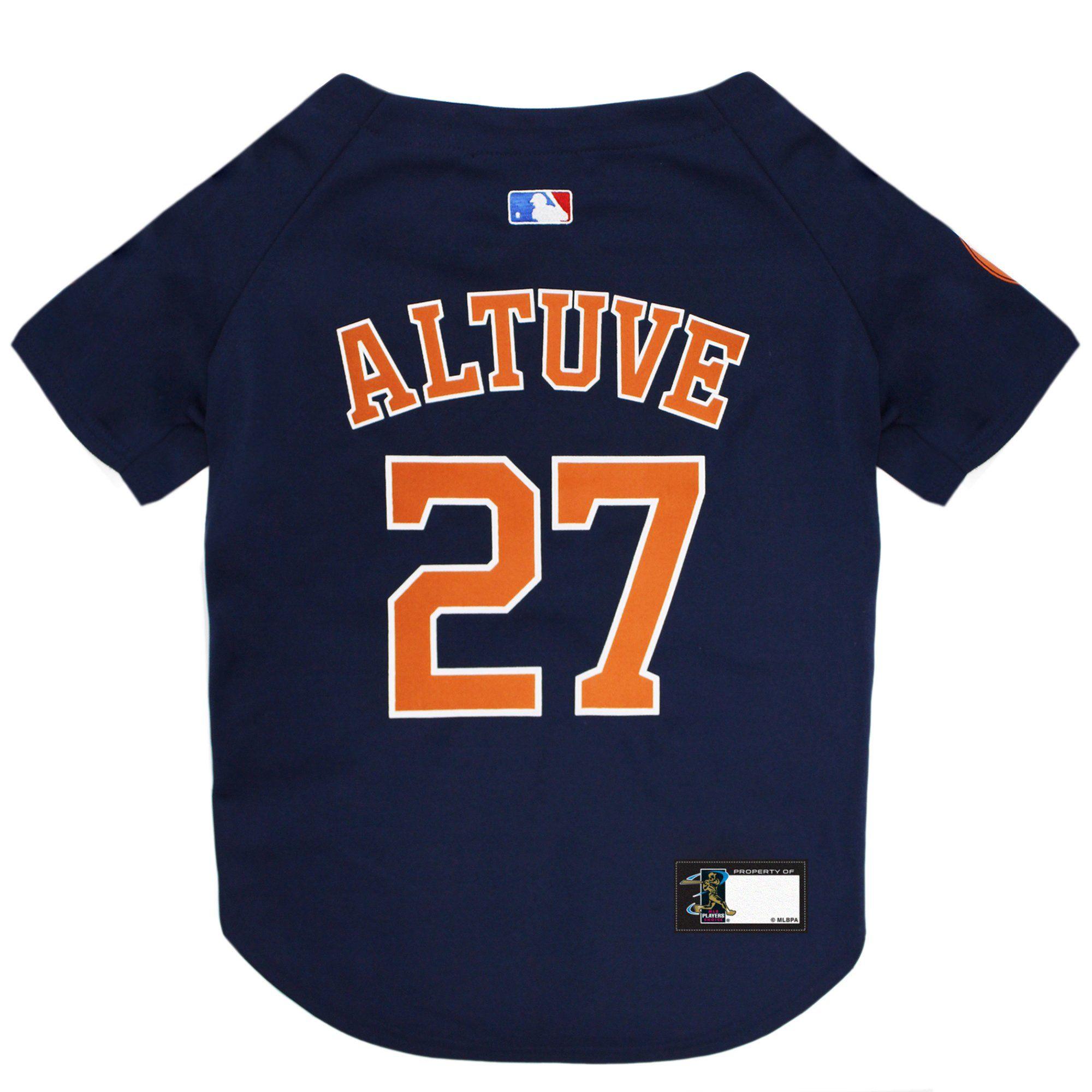 super popular 54215 60e30 Pets First Houston Astros Jose Altuve Dog Jersey, Medium ...