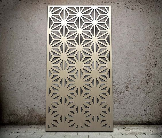 laser cutting stainless steel for wall panel decoration