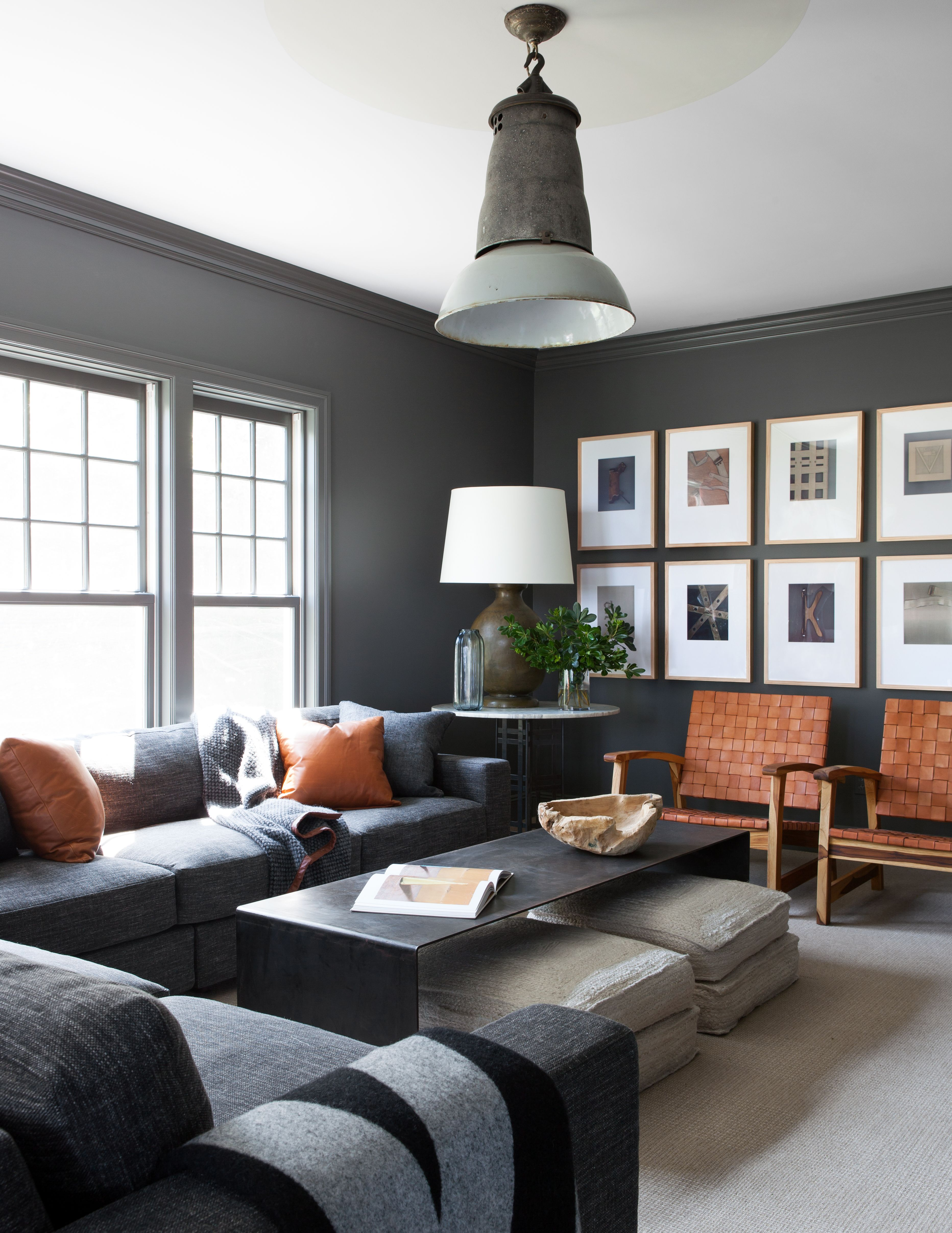 7 Designers Share Their Favorite Paint Colors For A Relaxing Home Masculine Living Rooms Living Room Grey Living Room Color Schemes #relaxing #living #room #colors