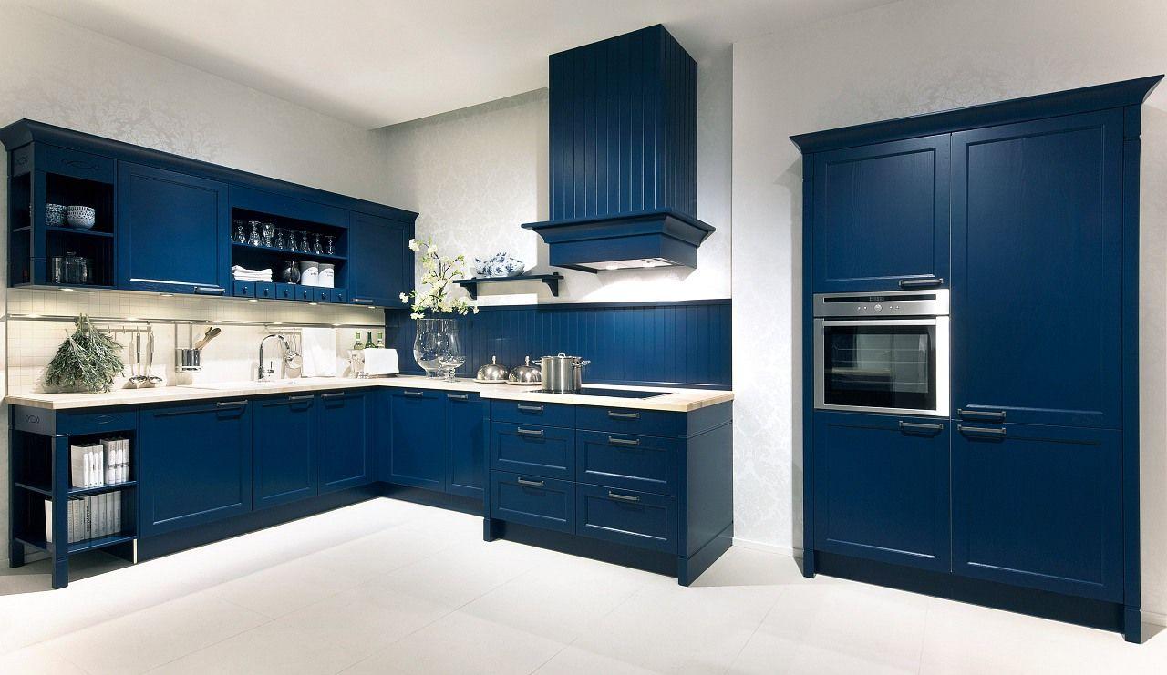 Küche dunkelblau
