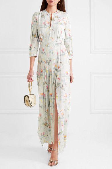 Eloise Floral-print Silk Maxi Dress - Ivory VILSHENKO a0Eh88t9f