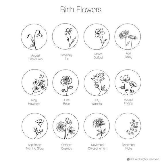 Photo of Geburtsblumenhalskette, Mutterhalskette, Geburtsmonatshalskette, Mutter-Tochter-Halskette …  My Blog #flowertattoos – flower tattoos