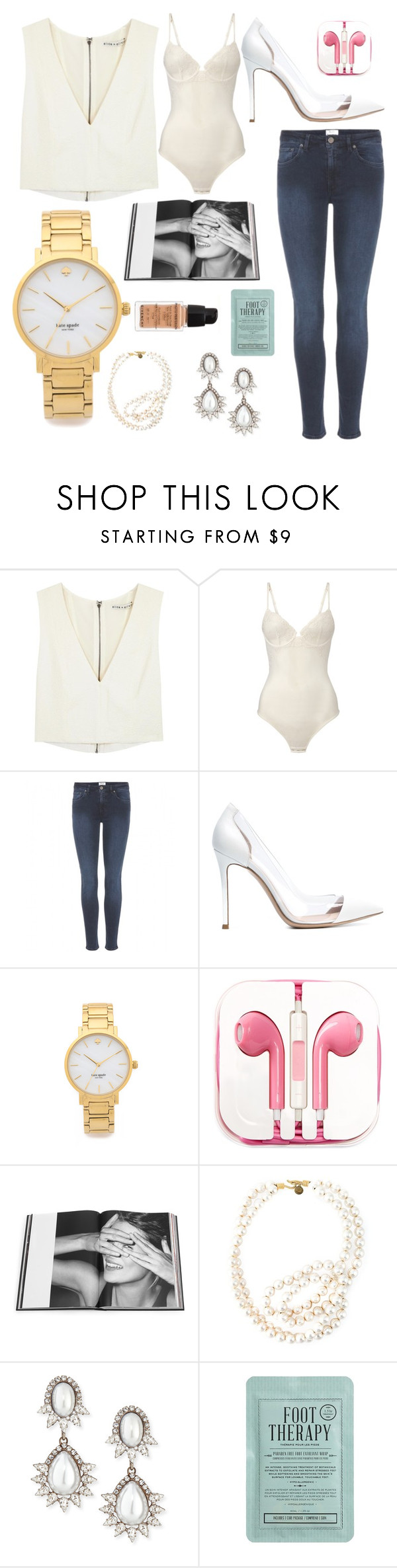 """Untitled #298"" by georgiabbbbb ❤ liked on Polyvore featuring Alice + Olivia, La Perla, Acne Studios, Gianvito Rossi, Kate Spade, PhunkeeTree, Rizzoli Publishing, STELLA McCARTNEY, DANNIJO and Kocostar"