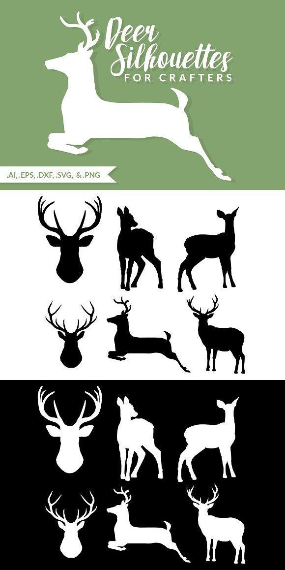 Deer Silhouettes For Crafters Deer Silhouette Deer Silhouette