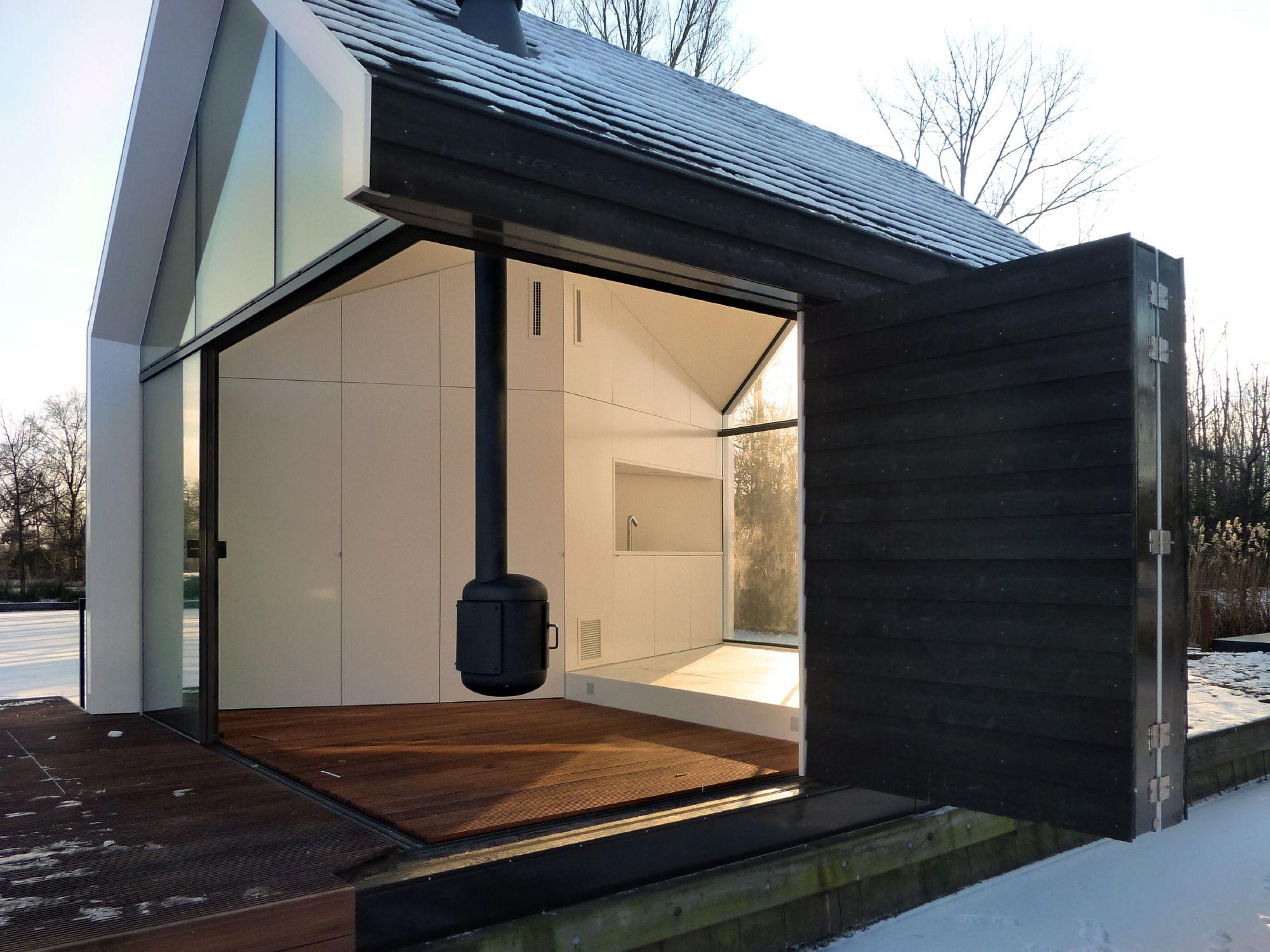 Wochenende am see minihaus in holland minihaus for Fertig minihaus