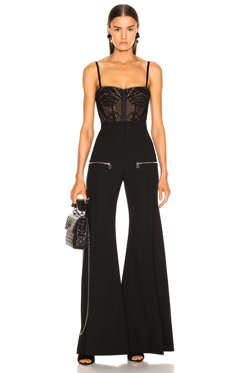 Image 6 Of Jonathan Simkhai Mixed Lace Bustier Bodysuit In Black Top Design Fashion Lace Bustier Fashion Clothes Women
