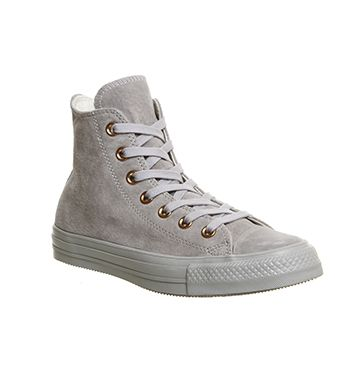 bb88594ced34 Buy Ash Grey Rose Gold Exclusive Converse All Star Hi Leather from  OFFICE.co.uk.