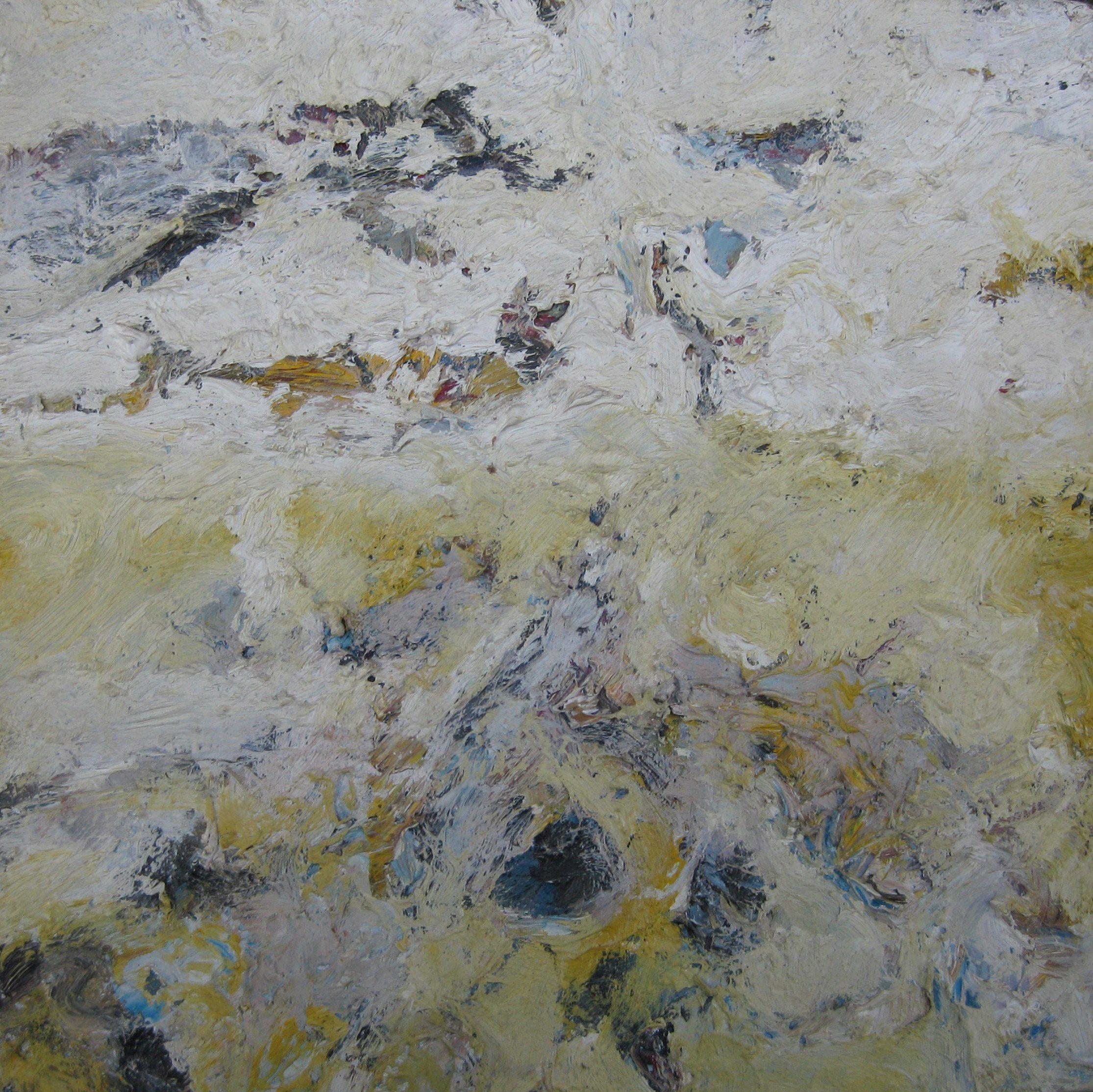 Zeeschap 20x20cm. olie/doek Constantijn Molenkamp