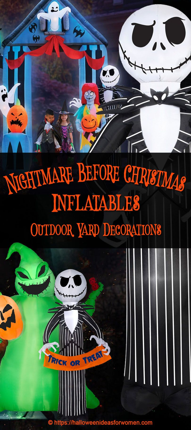 nightmare before christmas inflatables - Nightmare Before Christmas Inflatable Lawn Decorations