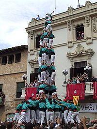 Castellers de Vilafranca .- Quatre de nou amb foire