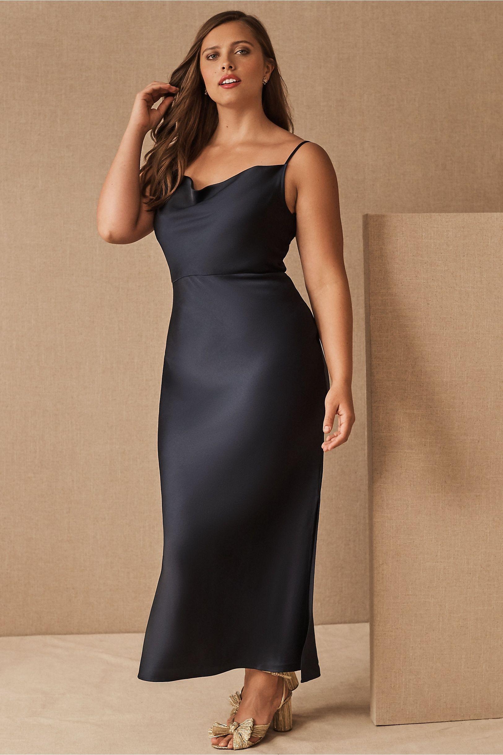 Cali Satin Charmeuse Midi Dress In 2021 Black Satin Bridesmaid Dress Black Bridesmaid Dresses Backless Bridesmaid Dress [ 2440 x 1625 Pixel ]